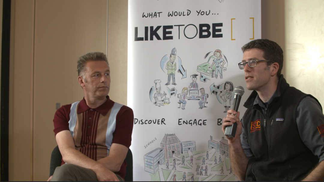 Adrian With Chris Packham