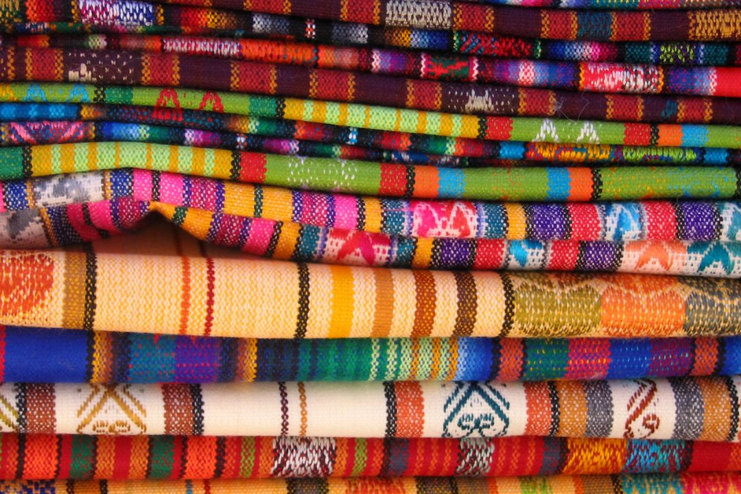 Peru colourful cloths